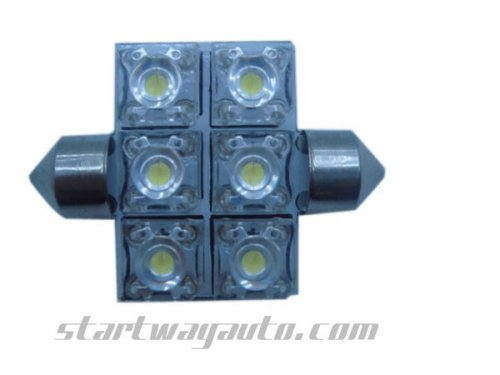 Festoon 6 pcs Car LED